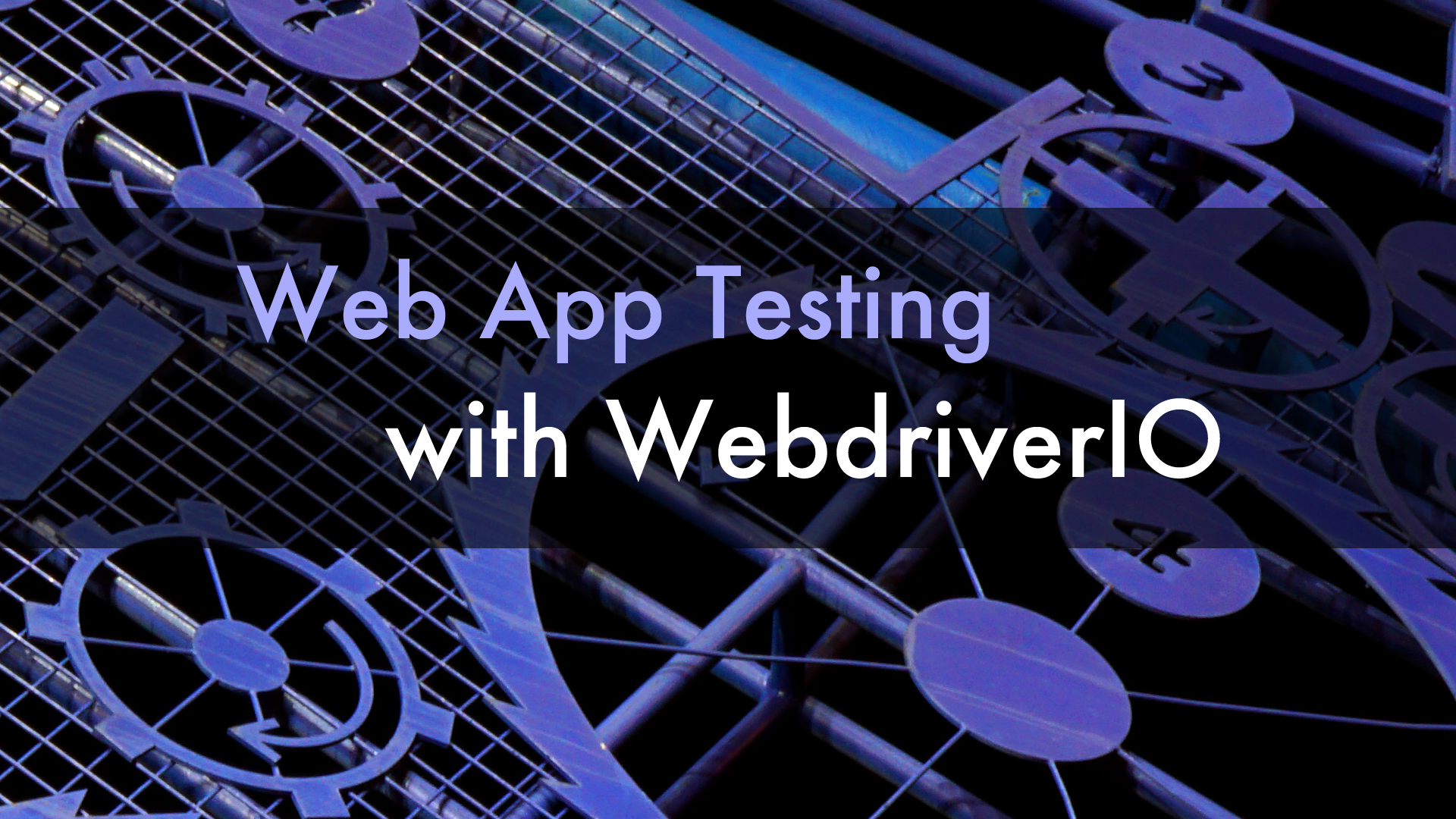 Web App Testing with WebdriverIO Book Cover